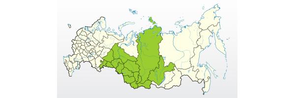 Регионы поставок компании Семена Сибири